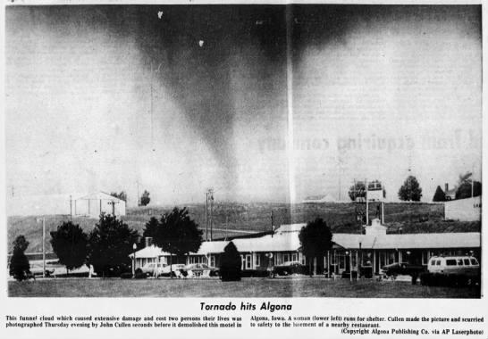 Algona, IA F3 Tornado – June 28, 1979