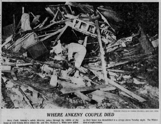 Ankeny-Runnells, IA F4 Tornado – June 18, 1974