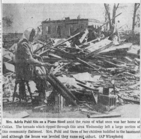 Colfax, WI F5 Tornado – June 4, 1958