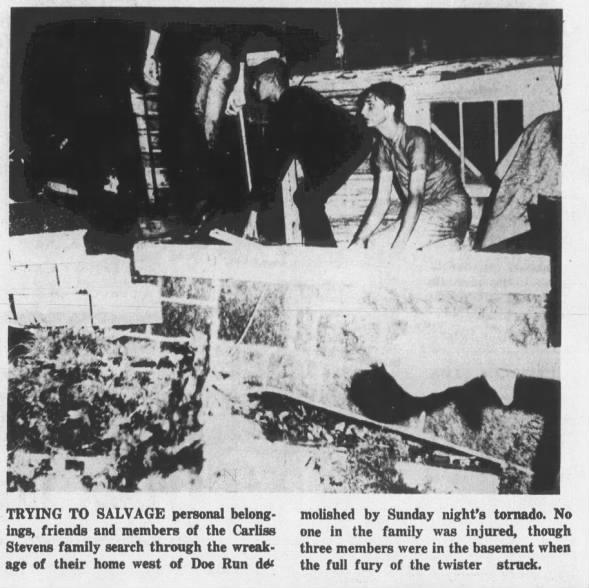 Doe Run-Libertyville, MO F4 Tornado – June 22, 1969