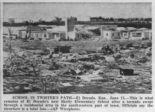 El Dorado, KS F4 Tornado – June 10, 1958