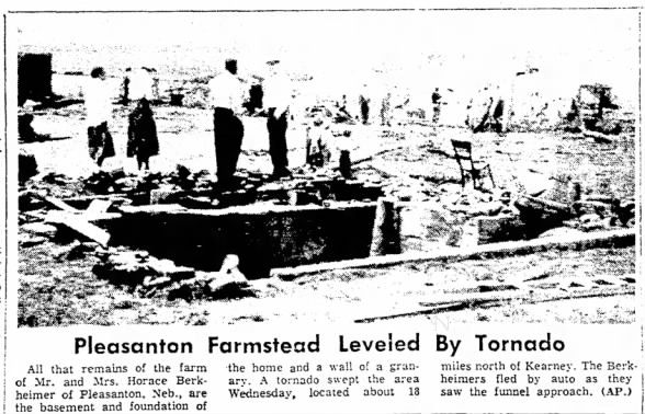 Pleasanton, NE F4 Tornado – June 6, 1956