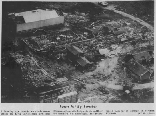 Bloomer, WI F4 Tornado – July 30, 1977