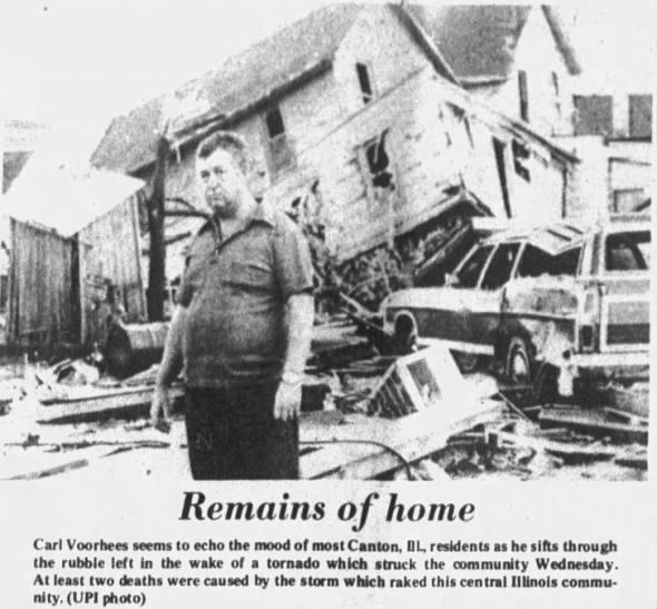 Canton, IL F3 Tornado – July 23, 1975
