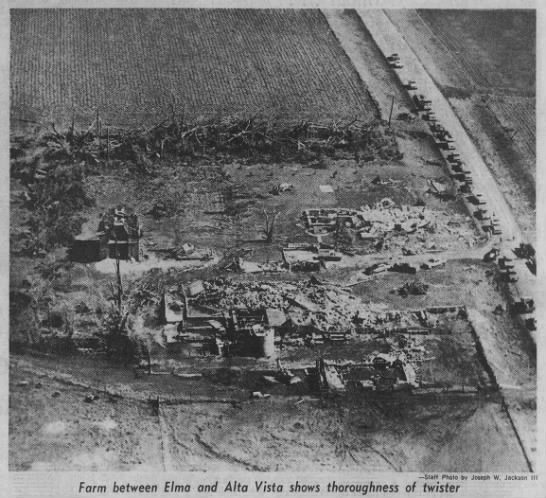 Elma-Lawler-Waucoma, IA F4 Tornado – July 12, 1971