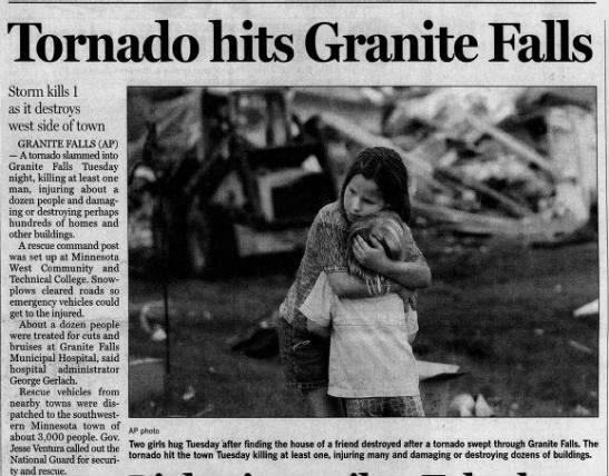 Granite Falls, MN F4 Tornado – July 25, 2000