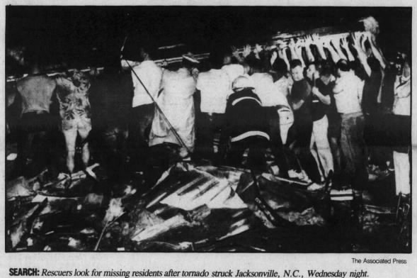 Jacksonville-Hubert, NC F2 Tornado – July 2, 1986