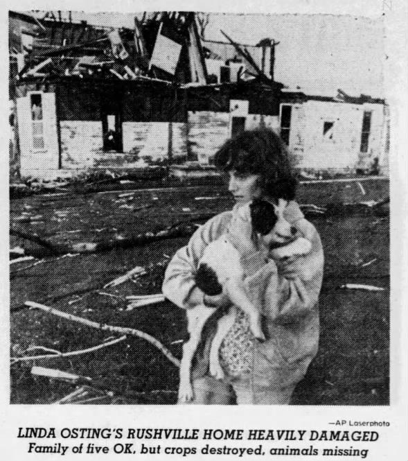 Rushville-New Salem, IN F4 Tornado – July 9, 1980