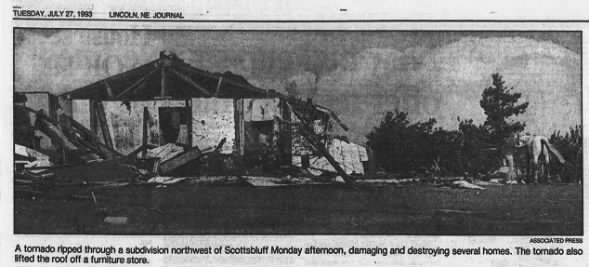 Scottsbluff, NE F2 Tornado – July 26, 1993