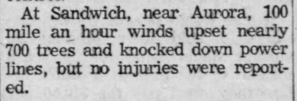 Dixon-Joliet, IL F2 Tornado – August 15, 1958