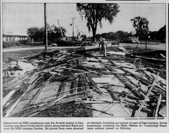 East Lansing-Gregory, MI F2 Tornado – August 14, 1988
