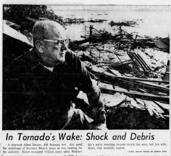Lake Mendota, WI F3 Tornado – August 2, 1967
