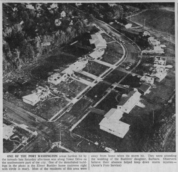 Port Washington, WI F4 Tornado – August 22, 1964