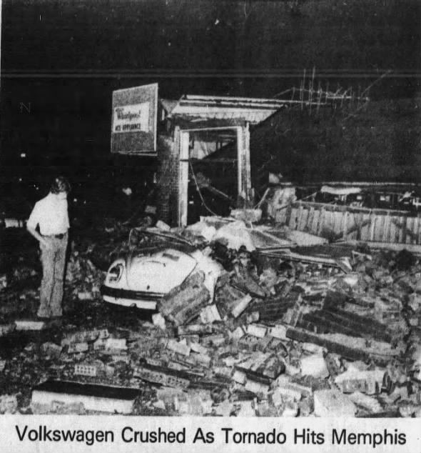 South Memphis, TN F2 Tornado – August 29, 1978