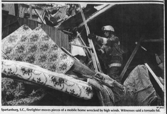 Spartanburg, SC F2 Tornado – August 17, 1985