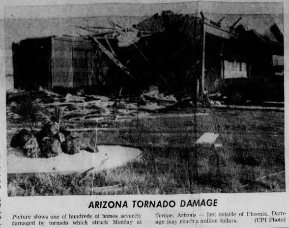 Tempe, AZ F2 Tornado – August 30, 1971