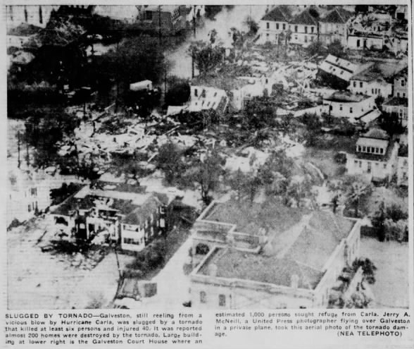 Galveston, TX Tornadoes – September 12, 1961