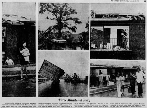 Hartford County, CT F2 Tornado – September 6, 1973