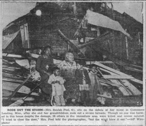 Tornadoes in Northern MS – February 1, 1955