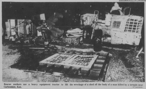 Carbondale, KS F1 Tornado – October 31, 1984