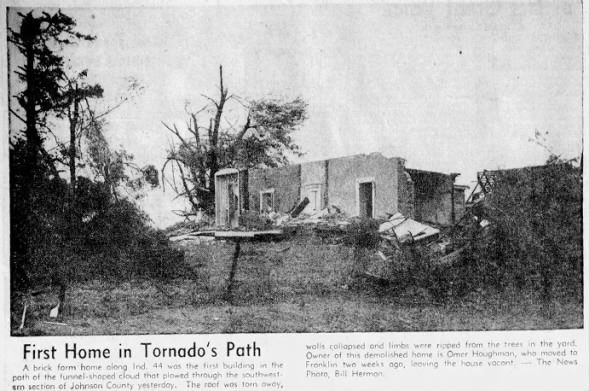 Franklin, IN F3 Tornado – October 11, 1954