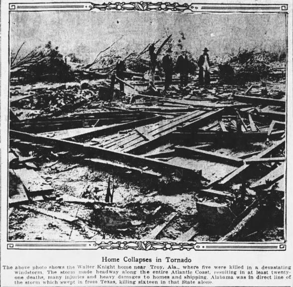 Luverne-Troy-Comer, AL F4 Tornado – October 25, 1925