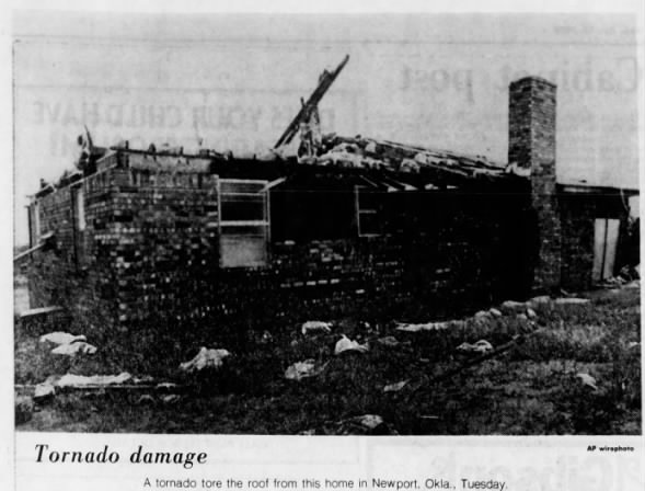 Newport-Woodford, OK F3 Tornado – October 30, 1979