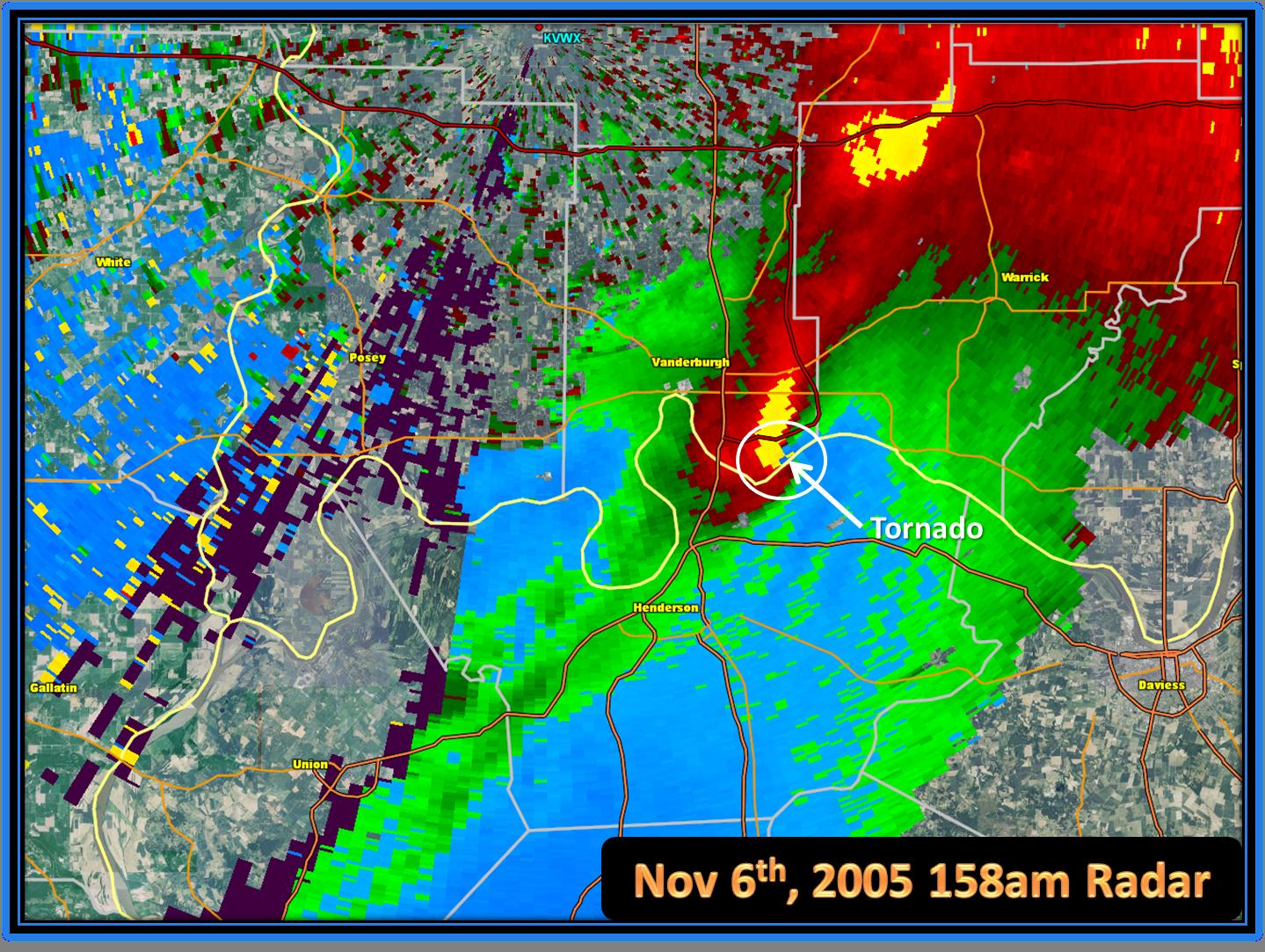 Evansville Area F3 Tornado – November 6, 2005