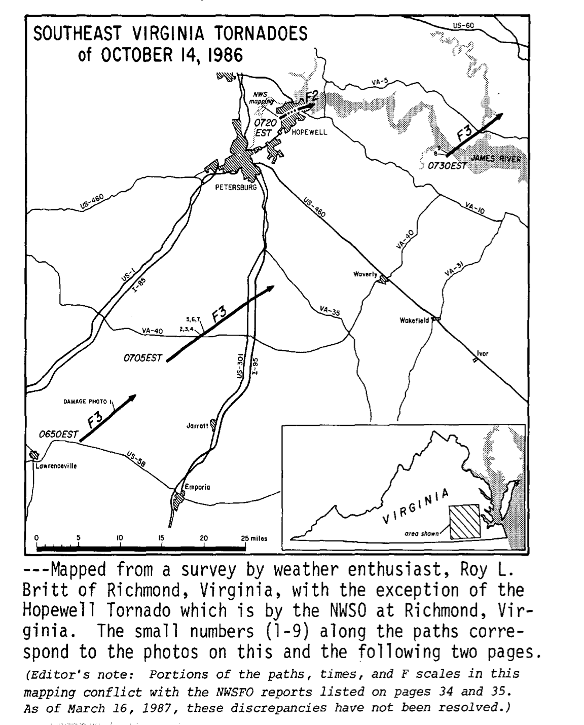 Virginia Tornadoes of October 14, 1986