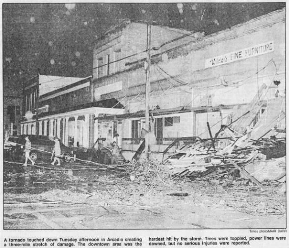 Arcadia, LA F3 Tornado – November 3, 1992