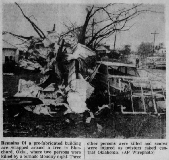 Blanchard-Moore, OK F3 Tornado – November 19, 1973