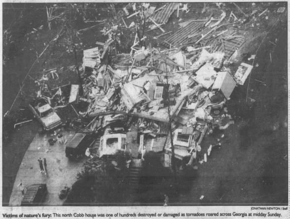 Cobb and Cherokee Counties, GA F4 Tornado – November 22, 1992