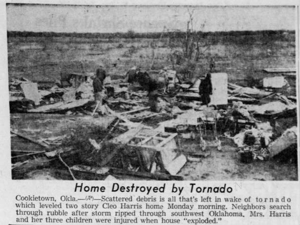 Cookietown-Walters, OK F3 Tornado – November 17, 1958