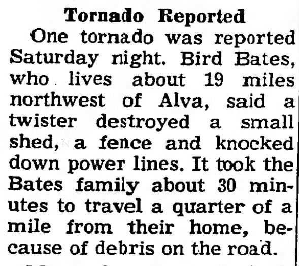 Freedom, OK F1 Tornado – November 14, 1964