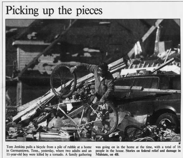 Germantown, TN F3 Tornado – November 27, 1994