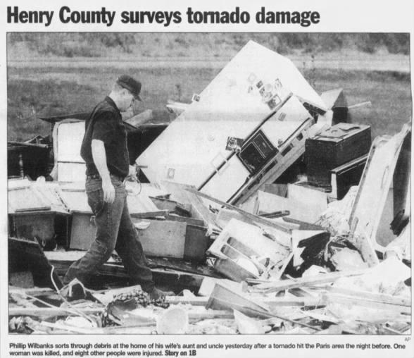 Henry County, TN F3 Tornado – November 26, 2001