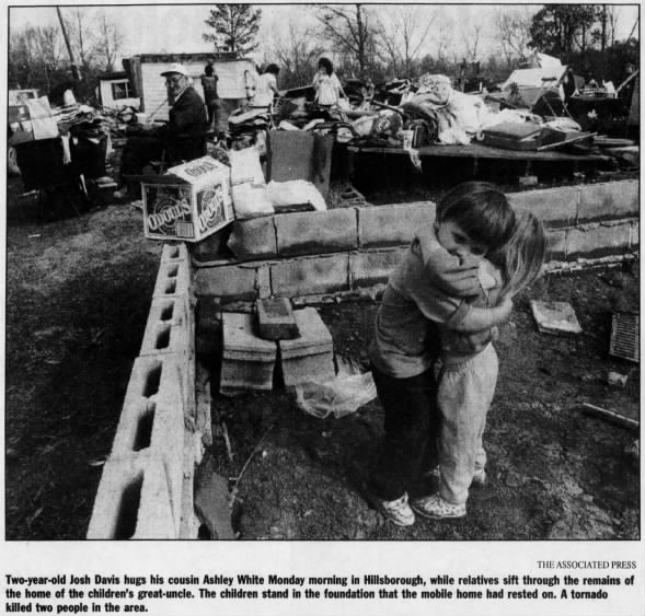 Hillsborough, NC F3 Tornado – November 23, 1992