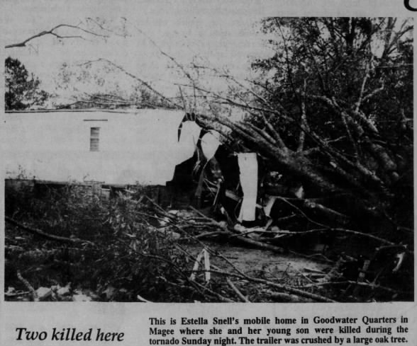 Magee, MS F3 Tornado – November 27, 1994