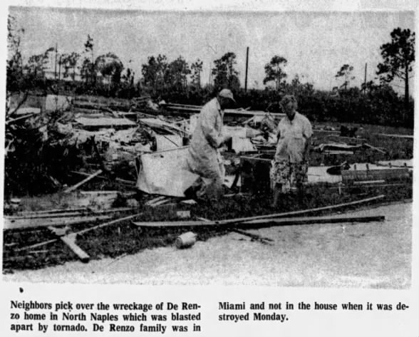 Naples-Clewiston, FL F2 Tornado – November 11, 1968