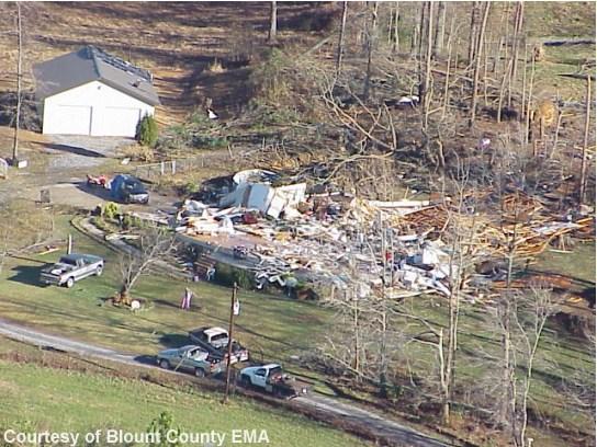Mt. Carmel-Altoona, AL F4 Tornado – November 24, 2001