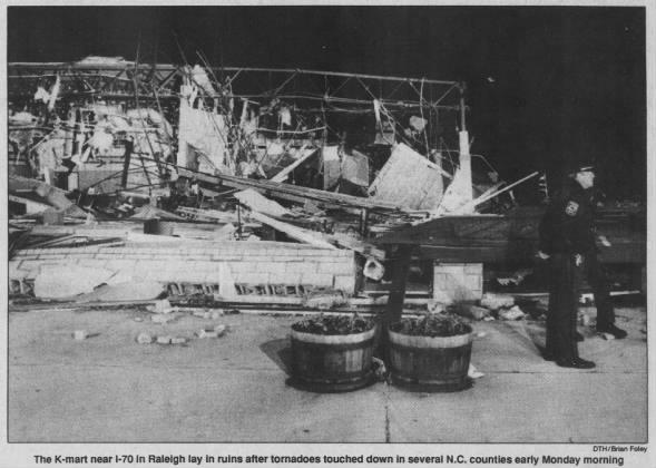 Raleigh, NC F4 Tornado – November 28, 1988