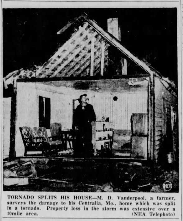 Centralia, MO F2 Tornado – December 4, 1956