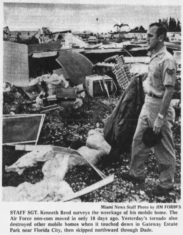 Florida City-Homestead, FL F2 Tornado – December 20, 1973