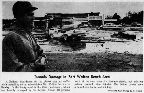 Fort Walton Beach-Ocean City, FL F2 Tornado – December 10, 1967