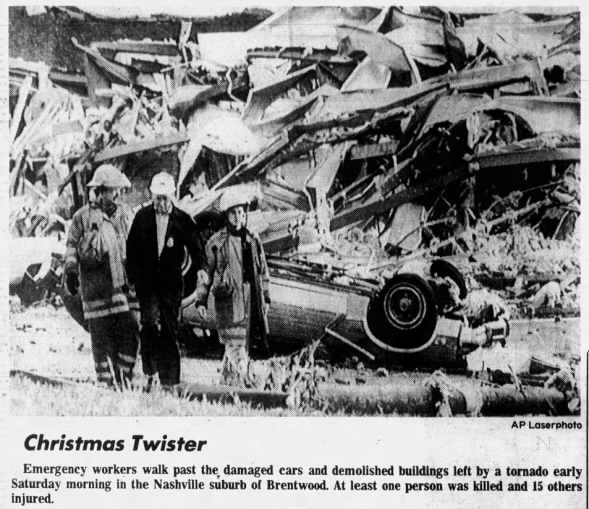 Franklin-Brentwood, TN F4 Tornado – December 24, 1988