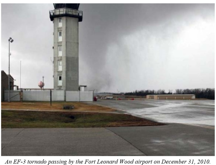 Fort Leonard Wood, MO EF3 Tornado – December 31, 2010