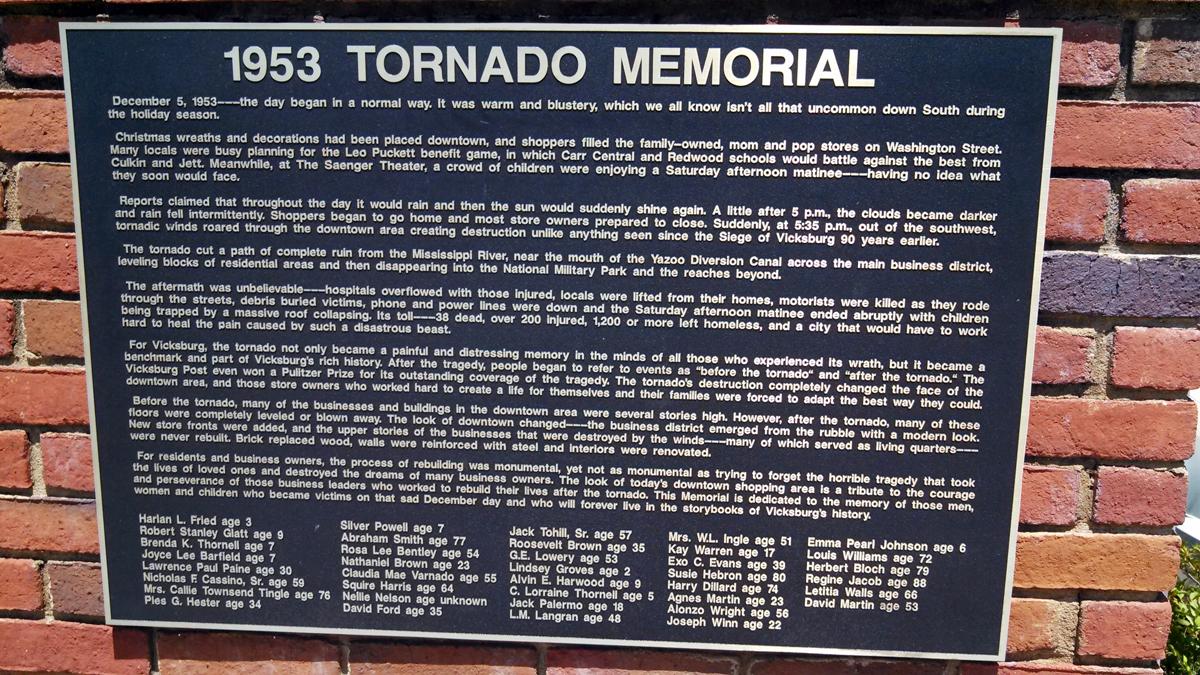 Vicksburg, MS F5 Tornado – December 5, 1953