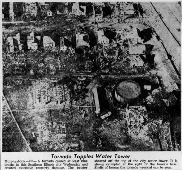 Murphysboro, IL F4 Tornado – December 18, 1957