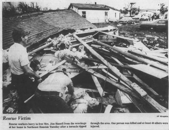 NE Houston, TX F3 Tornado – December 13, 1977