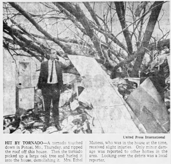 Potosi-Hopewell, MO F3 Tornado – December 8, 1966